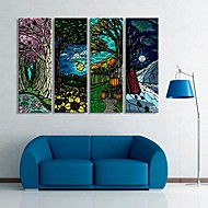 Stretched Canvas Art  For The Fantasy of Tree Set of 4