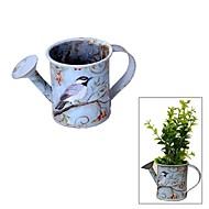 Vintage Style Mini Plant Pot en smeedijzeren Bloem Gieter