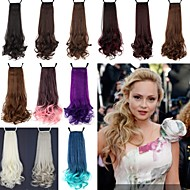 Excellent Quality Synthetic 18 Inch 100g Long Curly Ribbon Ponytail Hairpiece - 12 Colors Available