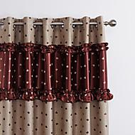 Dois Painéis Tratamento janela Moderno , Inovador Quarto Poliéster Material Blackout Cortinas cortinas Decoração para casa For Janela