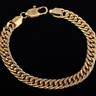 Women's Fashion Unique Shape18 K Gold Plated Bracelet