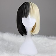 Black and Blond Kort Rett Syntetisk Søt Lolita Wig