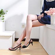 прозрачный лакированные низкие пятки сандалии партии / вечерние туфли (больше цветов)