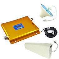 LCD Display GSM & DCS Mobile Phone Dual Band Signal Booster + Log Periodic Antenna + Ceiling Antenna with Cable