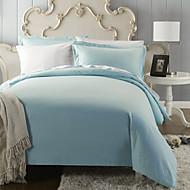 huani® klassieke blauwe plaid (300 thread count) dekbedovertrek set - 2 stuks voor tiener en kleinbedrijf, 3pcs voor queen sized