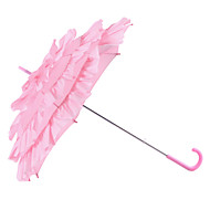 "Wedding / Masquerade Terylene Umbrella Hook Handle 27.2""(Approx.69cm) Plastic 28""(Approx.71cm)"