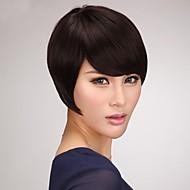 capless kort brun bob menneskelig hår parykker