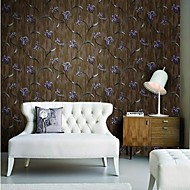 Wall Paper Wallcovering,  European Style flowers PVC Wall Paper