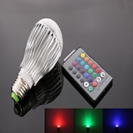 E26/E27 10 W 9 High Power LED 950 LM RGB B Remote-Controlled Spot Lights AC 85-265 V
