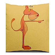 tecknad härliga djurtryck bomull / linne dekorativa örngott