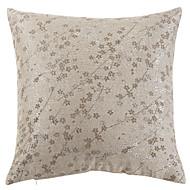 "18""x18"" Modern Linen Coffee Polyester Ramie Jacquard Pillow Cover"