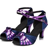vrouwen lederen bovenkant buckie samba dans schoenen sandalen