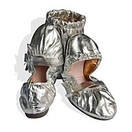 Non Customizable Women's Dance Shoes Belly Leatherette Flat Heel Silver/Gold