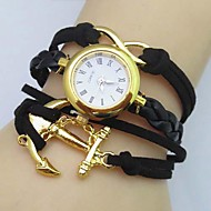 Women's Infinity Boat Anchor Leather Weave Band Quartz Analog Bracelet  Watch(Assorted Colors) Cool Watches Unique Watches Fashion Watch