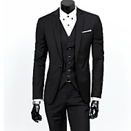 Men's Solid Black Gray Blue Suits, Formal Blazer And Pant(Vest Excl)