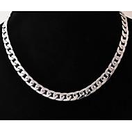 european (geometrische) Titan Stahl Halskette (Silber) (1 Stück) Schmuck