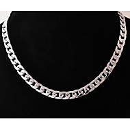 Herre Kædehalskæde Smykker Rustfrit Stål Titanium Stål Unikt design Mode Sølv Smykker For Bryllup Fest Daglig Afslappet Julegaver 1 Stk.