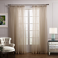 Two Panels Curtain Modern Bedroom Polyester Material Sheer Curtains Shades Home Decoration For Window