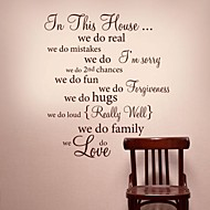 JiuBai™ In This House Quote Home Decoration Wall Sticker Wall Decal