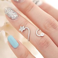 Pentagon Pentacle Diamond Starfish Ring