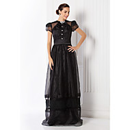 TS Couture® Formal Evening / Prom / Military Ball Dress - Black Plus Sizes / Petite Sheath/Column Jewel Floor-length Organza