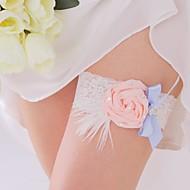 coloré râpe de mariage en dentelle / satin avec strass
