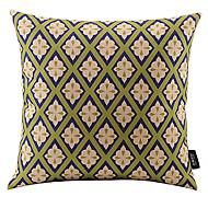 floral coton à carreaux / lin taie d'oreiller décoratif