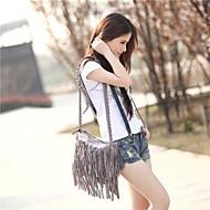 Women's Fringe Tassel Messenger Crossbody Shoulder Bag