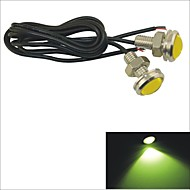 Carking™ 12V 1.5W 23MM Auto Car Eagle Eye Yellow Rear LED Light Day Time Running Lamp-Yellow Lens