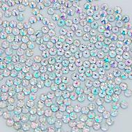 1400pcs 2mm lesk krystal ab drahokamu nail art dekorace