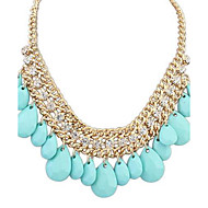 European Style Exquisite Rhinestone Water Drops Necklace(More Colors)