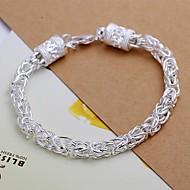 925 sliver tjock kedja armband (1st)