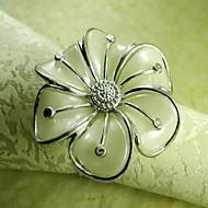 ruční květina prsten ubrousku, akrylové beades, 4,5 cm, sada 12