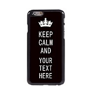 "caixa personalizada keep preto caso design de metal calma para iphone 6 (4.7 "")"