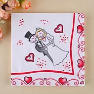 cartoon bruid&bruidegom servetten (set van 20)