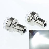 BAU15s (1056 PY21W) 1W 19led 90-120lm 6500-7500k hvide baklys (DC12V / a 2pcs)
