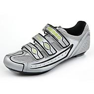 상단 유리 섬유 유일하고 PVC 가죽과 tb16-b1230 도로 자전거 신발 (실버 + 블랙)