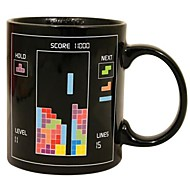 retro 80'er videospil krus Tetris varme farveskift kaffekop keramik (3.2x.2x3.8 tommer)