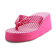 Women's Shoes Flip Flops Wedge Heel Fabric Slippers Shoes More Colors available