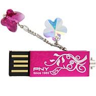 PNY Lovely Attaché-Flower 16GB USB Flash Drive Crystal
