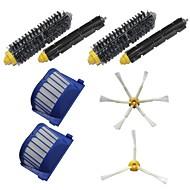 2 Aero Vac Filters & Side Brushes & 2 Bristle Brushes & 2 Flexible Beater Brushes Kit for iRobot Roomba 600 Series