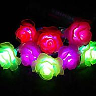 cordes conduit de lumière 40 lumières forme moderne de rose en plastique chromatique 4.5m 220v
