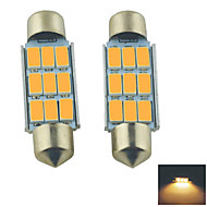 Carking ™ podražcový 39mm-5630-9SMD Auto LED lampa Řím Warm White Light (12V/2PCS)