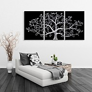 Stretched Canvas Art Lucky Tree Decoration  Set of 3