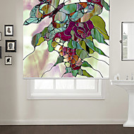 Abstract Style Butterfly With Flowers Roller Shade