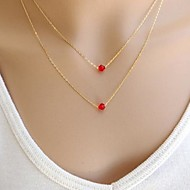 Ladies'/Women's Alloy Necklace Birthday/Gift/Party/Daily/Causal/Outdoor Crystal