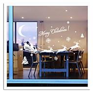 zooyoo® schattige kleurrijke pvc verwijderbare kerst carrige beeld van muurstickers hete verkopen muur stickers voor home decor