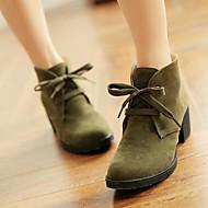 Calçados Femininos - Botas - Arrendondado - Salto Grosso - Verde / Marrom / Vinho / Azul - Courino - Social