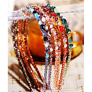 Fashion Multicolor Irregular Crystal Decoration Hairbands(1 Pc)(More Color)