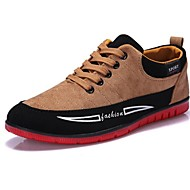 Men's Shoes Casual Faux Leather Fashion Sneakers Black/Blue/Yellow
